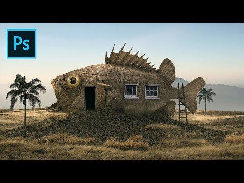Photoshop Tutorial - Surrealism Fish House Photo Manipulation