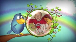 Слайдшоу детское Дети и птички