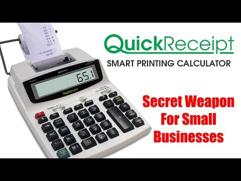 Quick Receipt Printing Calculator For Small Businesses (DP-32AD-RCPT)