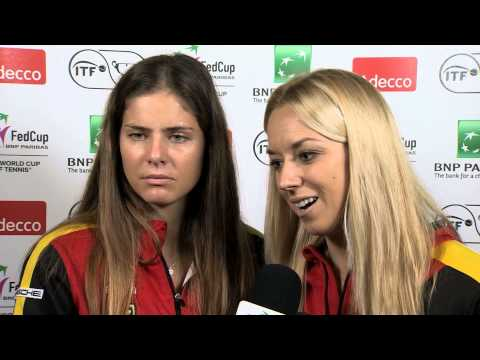 2014 Fed Cup Final | Official Fed Cup - German Doubles Draw Interview