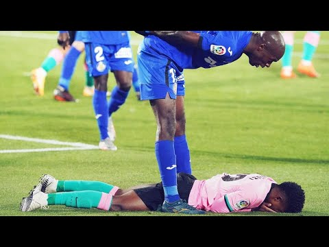 FC Barcelona players' shocking reaction when Ansu Fati was getting bullied | Oh My Goal