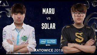 StarCraft II - Maru [T] vs. Solar [Z] - Quarter Final - IEM Katowice 2018