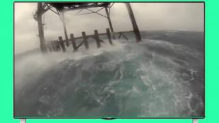 Hurricane Arthur at The Frying Pan Tower Adventure