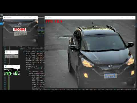 High speed license plate detection and recognize, Yolo + KNN by João Reis