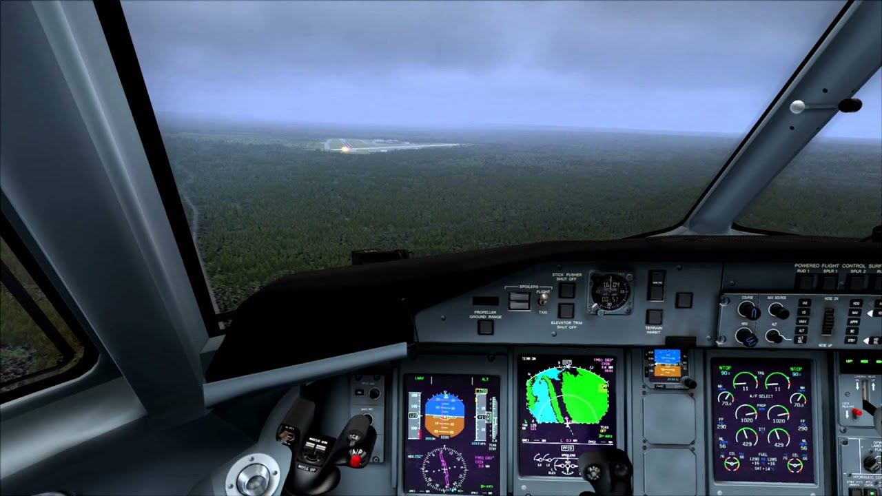 Majestic Software Dash 8-Q400 RNAV 08 Greenwood NS Canada by eastcoast78