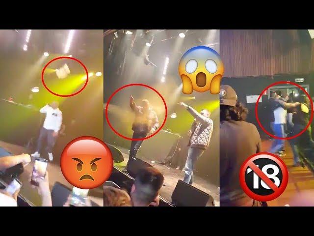 Clash-buzz-snap  rgtv® fianso sofiane se fait violemment agresser en plein concert a molenbeek !😱😤