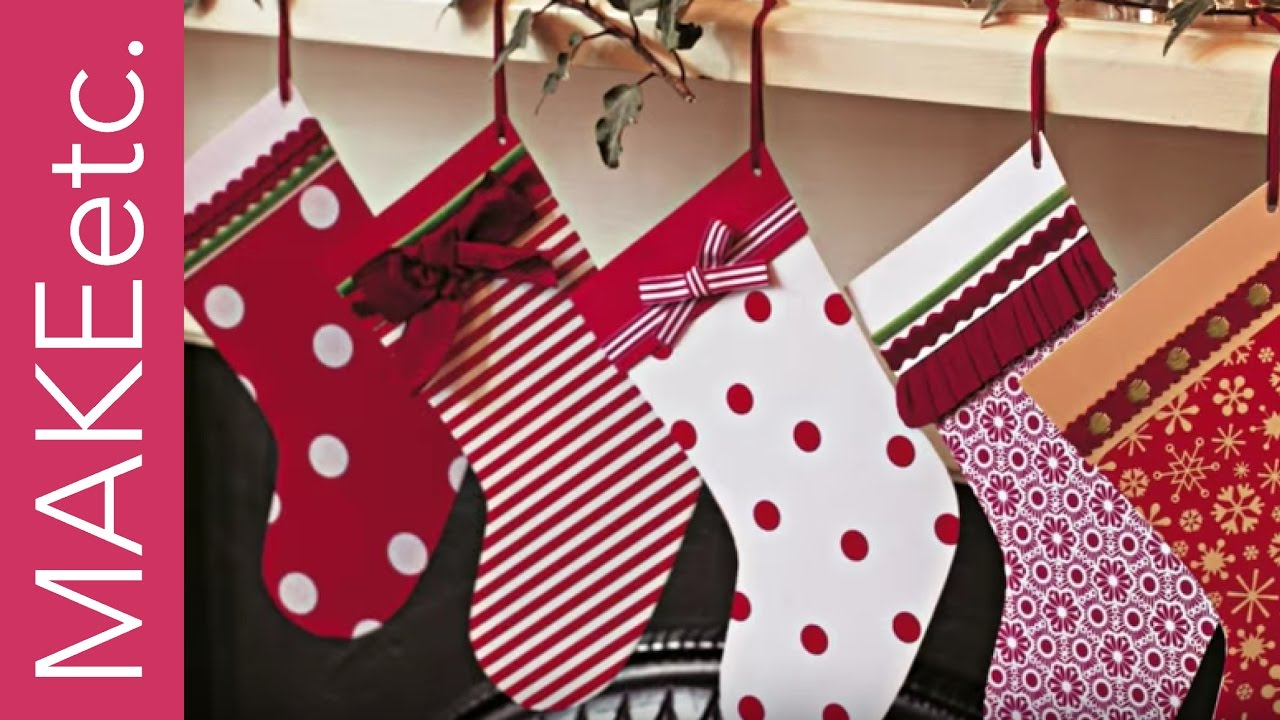 Diy Kids Craft Tutorial Christmas Stocking Card