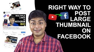 Big YouTube Video Thumbnail Shared On Facebook Page