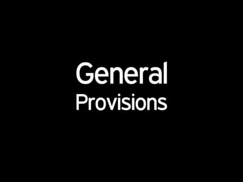 General Provisions of the 1987 Constitution of the Philippines