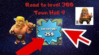 LEVEL 259 Town Hall 9 in CLASH OF CLANS? HOW ? IS it a new Clash of Clans Hack or cheat? 3 star