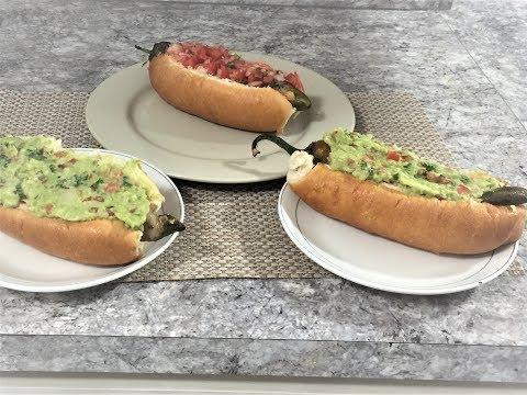 hot dogs con camaron y chile o chilidogs