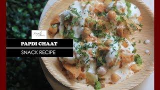 Papdi Chaat | How To Make Papri Chaat | Snacks Recipe | Simply Jain