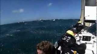 Nicolas Troussel et son équipage en convoyage pour Douarnenez