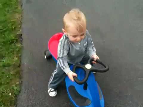 baby on plasma car and ride on toy youtube