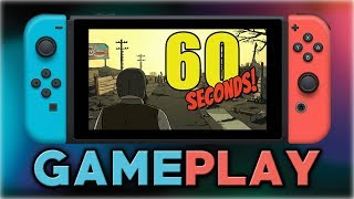 60 Seconds! | First Look Gameplay | Nintendo Switch