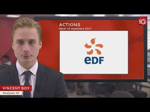 Bourse - Action EDF, Goldman Sachs en soutien - IG 19.09.2017