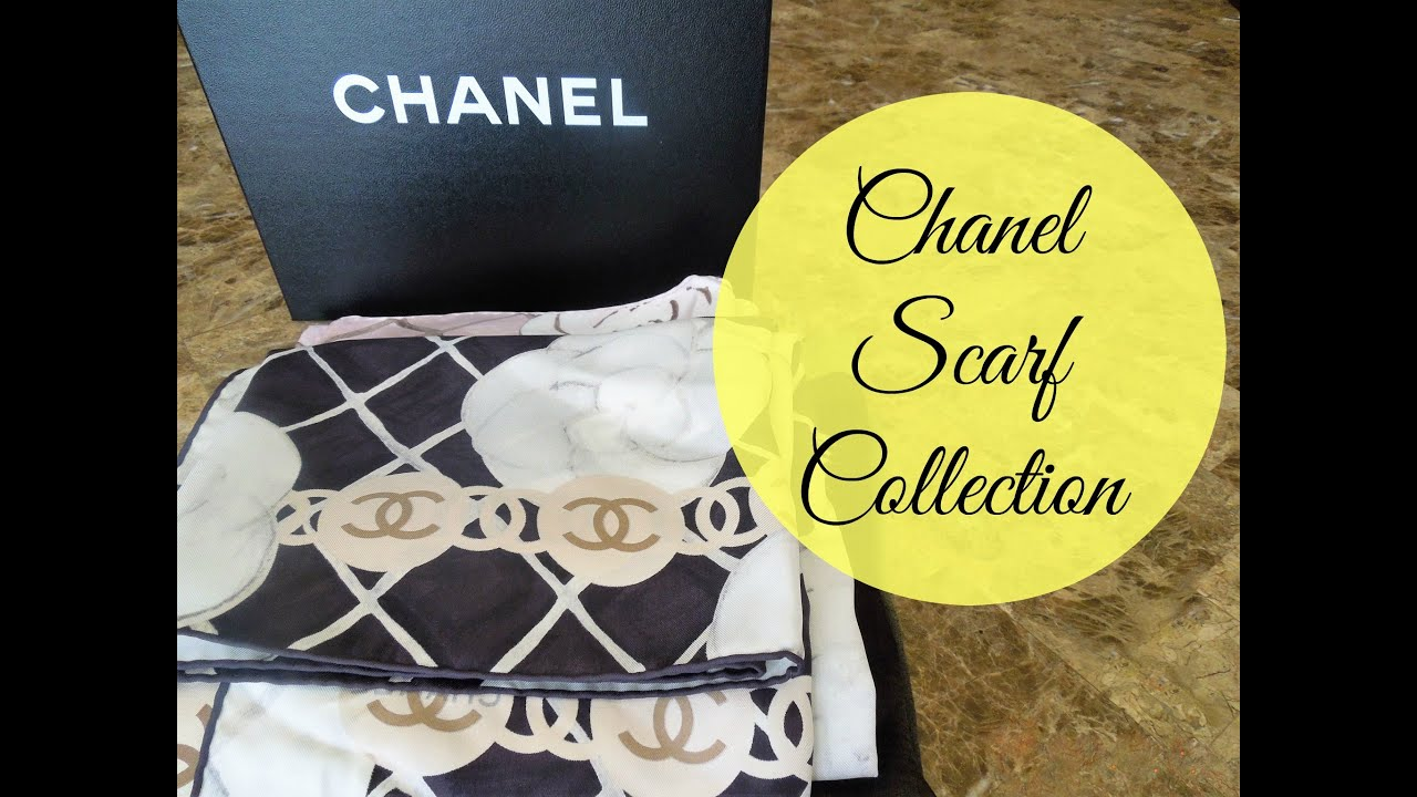 Designer Scarf Collection Part 2- Chanel Scarves - YouTube