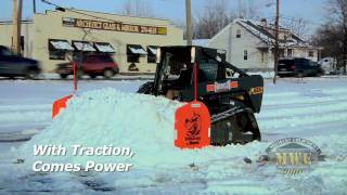 Bridgestone PolarTread Rubber Tracks Demo Snow Bobcat ASV CAT JCB Gehl Volvo Deere