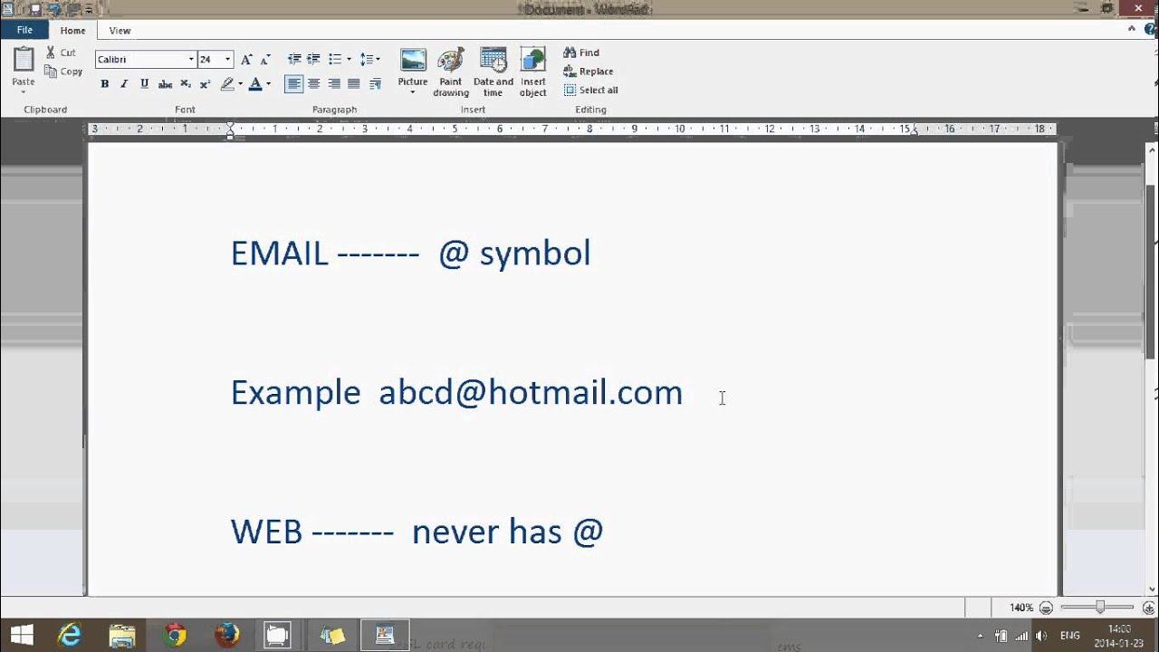 Windows 81 Tips Difference Between Email And Web Adress Youtube
