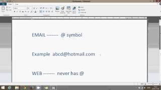 Windows 8.1 tips difference between email and web adress