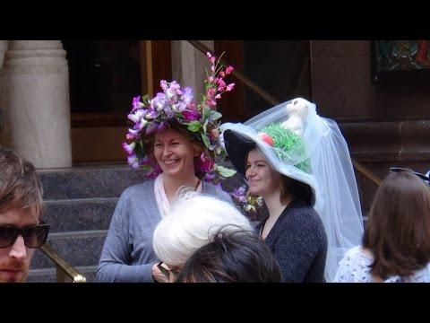 Easter parade of hats in New York City 2017. Пасхальный парад шляп