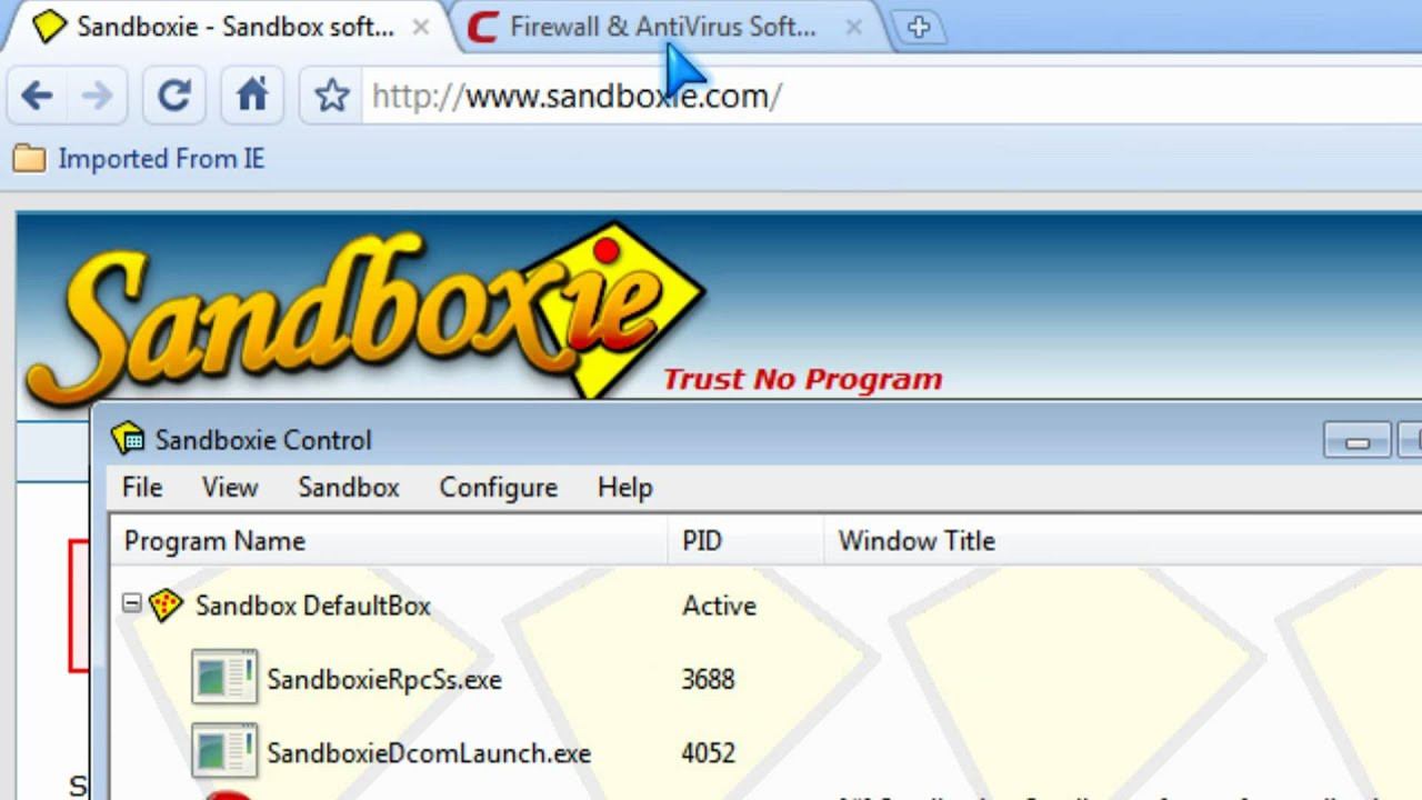 Sandbox Windows programs to keep PC safe with Sandboxie Comodo sandbox