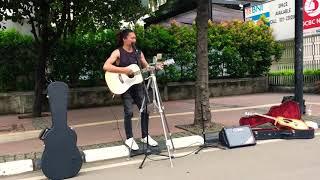 Pengamen Car Free Day | Cover Lagu Michael Buble - I Wanna Go Home