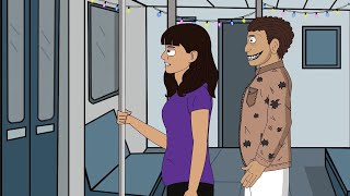 Horror Halloween Night on Subway Ride - Horror Stories Animated