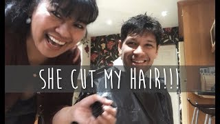 FILIPINO MOTHER CUT MY HAIR!!!