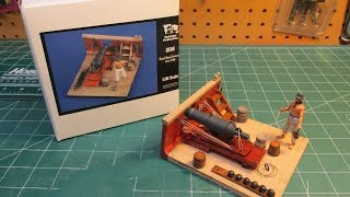 Verlinden 1/32 Royal Navy Carronade Model Ship Build Review 2134