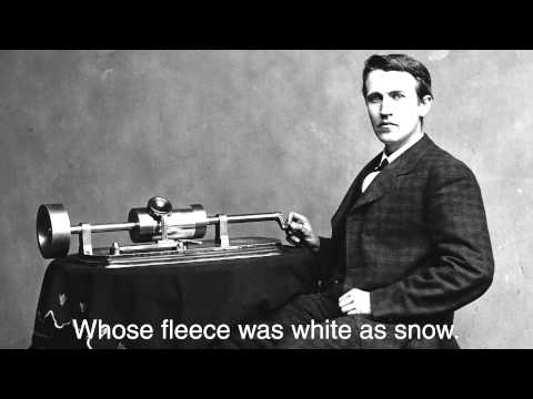 Newly Discovered Thomas Edison 1877 Phonograph Recording FULL VERSION