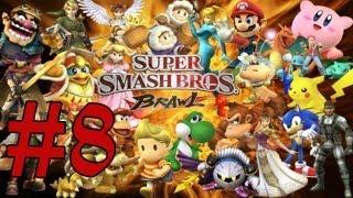 """Super Smash Bros Brawl-Em.Sub.Parte 8 """"Sala en ruinas,2ª Zona silvestre y La rivera"""" Comentando"""