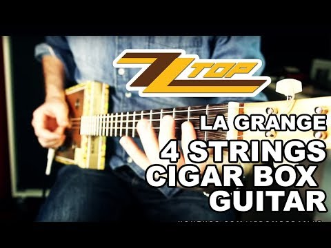 ZZ TOP LA GRANGE COVER CIGAR BOX GUITAR BY JEROME GRAILLE.