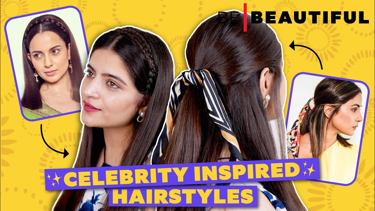 BOLLYWOOD Celebrity Inspired Hairstyles   Easy Hairstyles For Different Hair Lengths   Be Beautiful