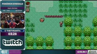 Pokemon Emerald by thetyrant14 in 2:56:16 - AGDQ 2017 - Part 37