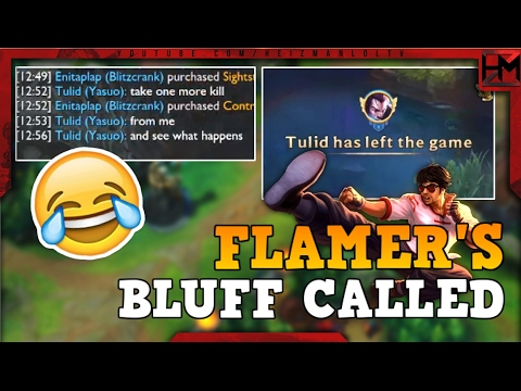 CALLING A FLAMER'S BLUFF | Unranked to Diamond S7 #5 - League of Legends
