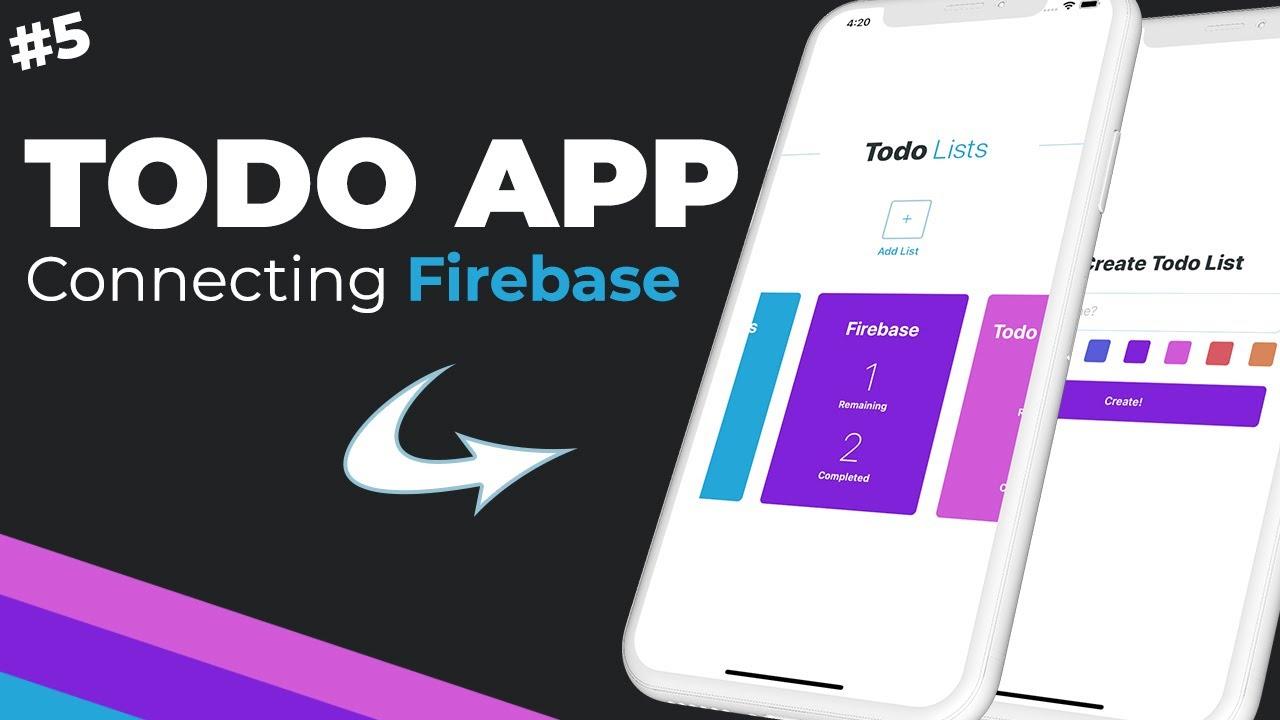 Firebase Setup & Connecting // React Native & Firebase Todo App // Part #5