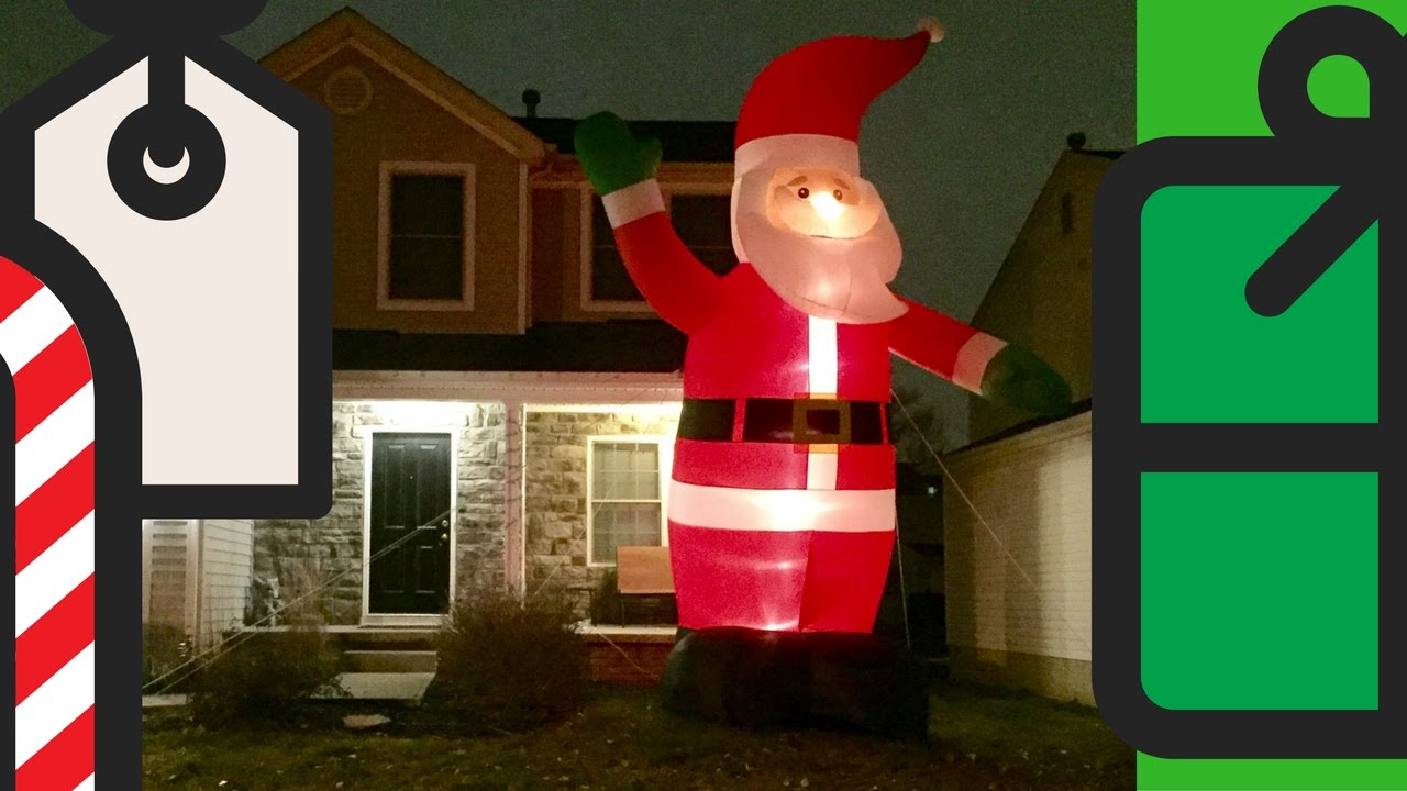 how to repair inflatable santa claus christmas holiday decoration