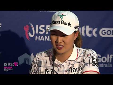 Minjee Lee Tuesday media conference 2018 ISPS Handa Women's Australian Open