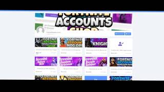 THE BEST SELLER ACCOUNTS FOR FORTNITE - VERIFIED SHOP! ✅ - FortniteShopAccounts
