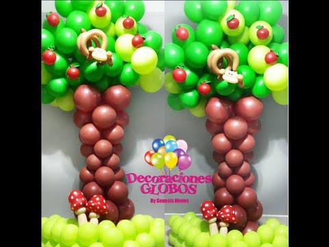Como hacer un rbol con globos paso a paso youtube for Arboles de decoracion