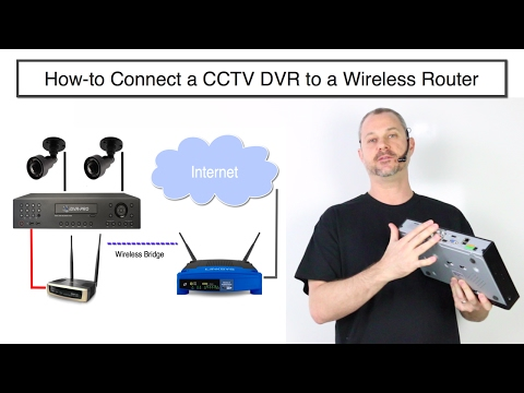 How to Connect a CCTV DVR to a Wireless Router