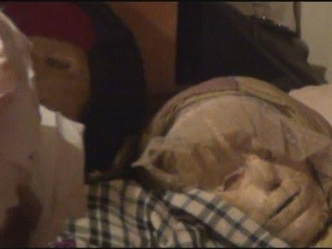 GRAVE ROBBER: Russian man dresses up mummies
