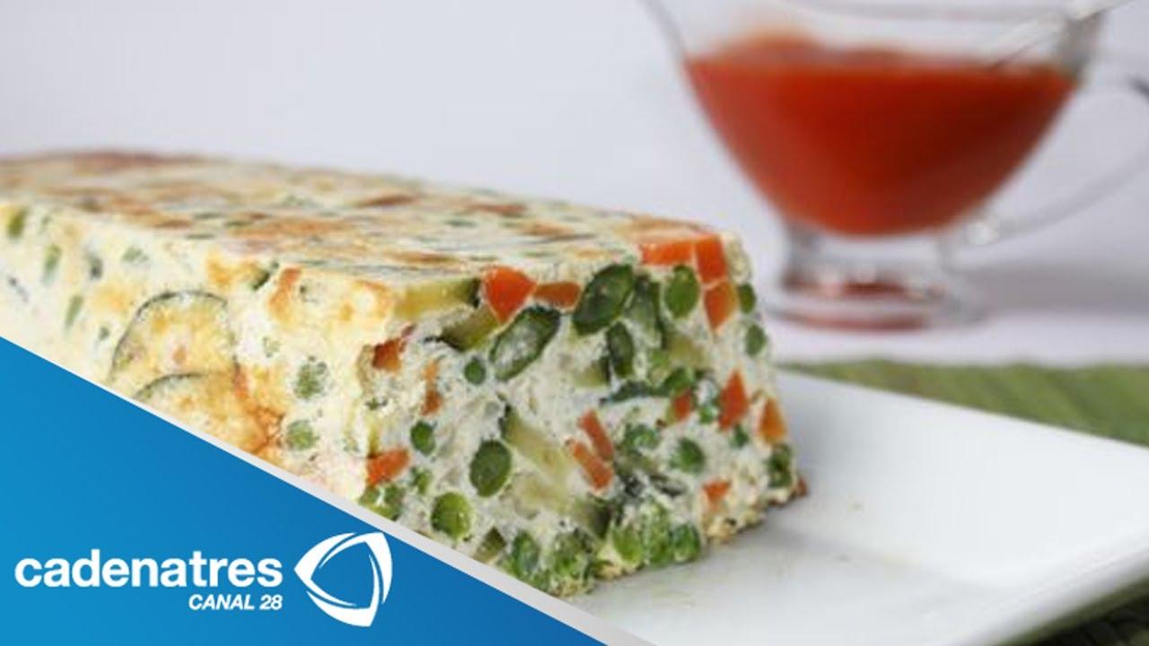 Receta de pastel de verduras con salsa. Receta de pastel de verduras / Receta de pastel
