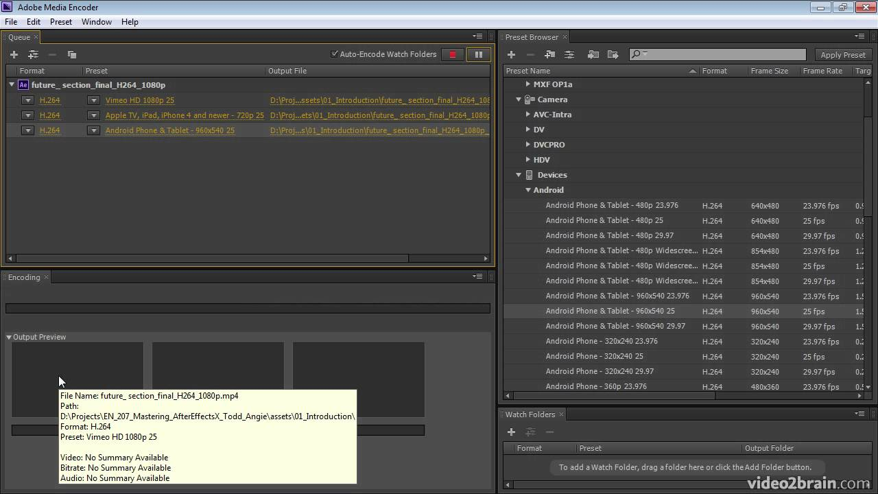 Exporting with the Adobe Media Encoder - YouTube