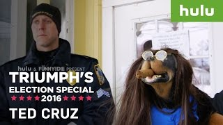 Triumph the Insult Comic Dog Stalks Ted Cruz • Triumph on Hulu