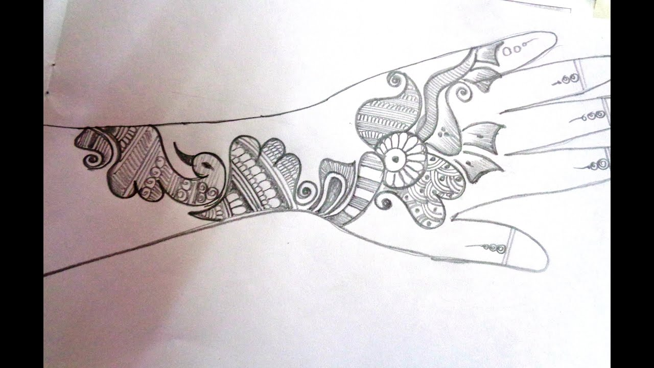 How To Draw A Mehndi/Henna Design On Paper - YouTube