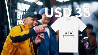 [上海YOHOOD 2019] 僅需美金38就买到A COLD WALL ?! ACW T-shirt with 38 USD?