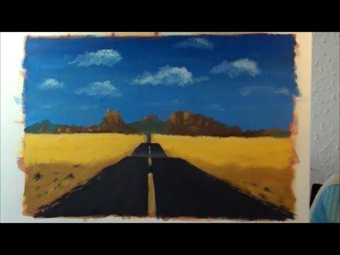 Oil Painting Lesson 5 A Simple Landscape Route 66