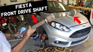 FORD FIESTA FRONT RIGHT DRIVE SHAFT CV AXLE REPLACEMENT REMOVAL